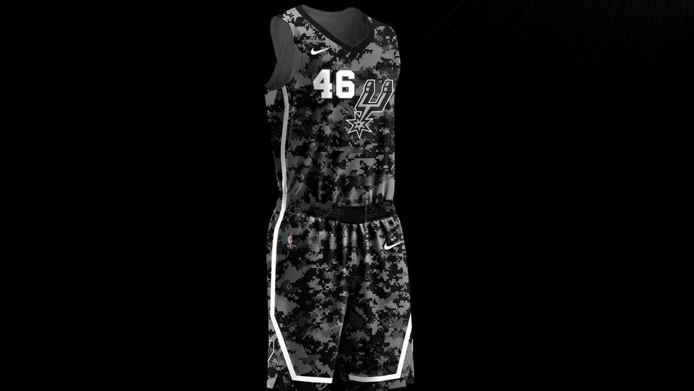 1bf8a42f387 Spurs  new  City Edition  jerseys pay tribute to military