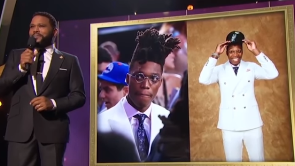 875d0627588c WATCH  Spurs  Lonnie Walker IV gets teased during 2018 NBA Awards show