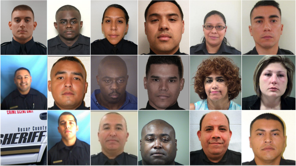 Bexar County Sheriff's deputies being arrested at prolific
