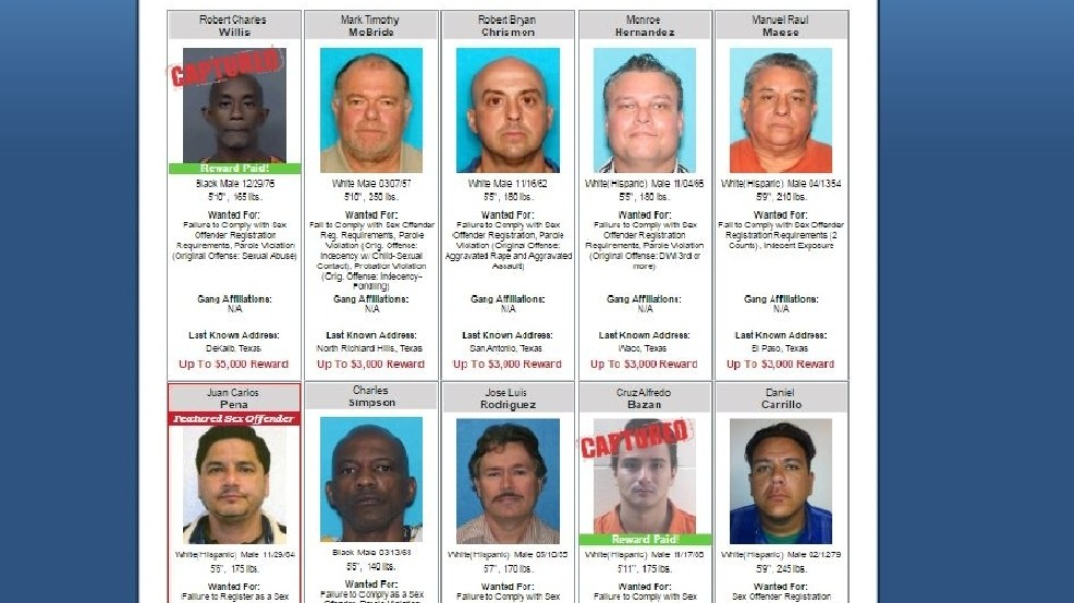 Texas sexual offender list