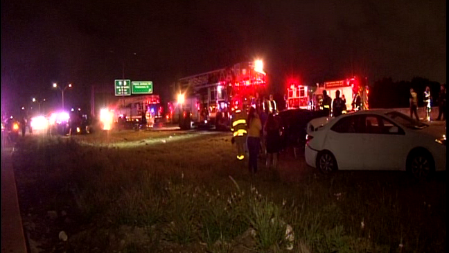 Highway accident causes 10 vehicles to crash, man dies after being