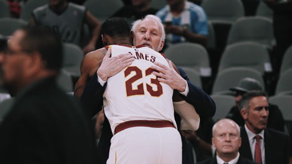 be7d94529fda WATCH  LeBron James sends his condolences to Gregg Popovich after passing  of his wife