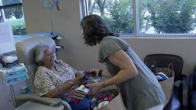Silly socks put smiles on faces of people fighting cancer | WOAI