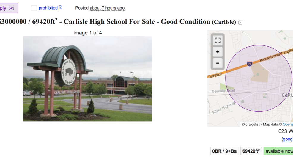 Senior class tries to sell their high school on Craigslist
