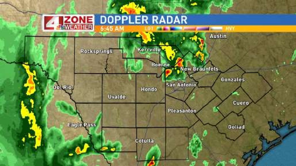 San Antonio Weather Map Radar.4 Zone Weather Storms Roll Through South Texas Woai